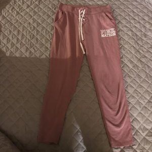 Pink Nation joggers/sweatpants